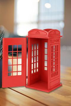 Resim Decorev Dekoratif London Telefon Kulubesi Kırmızı